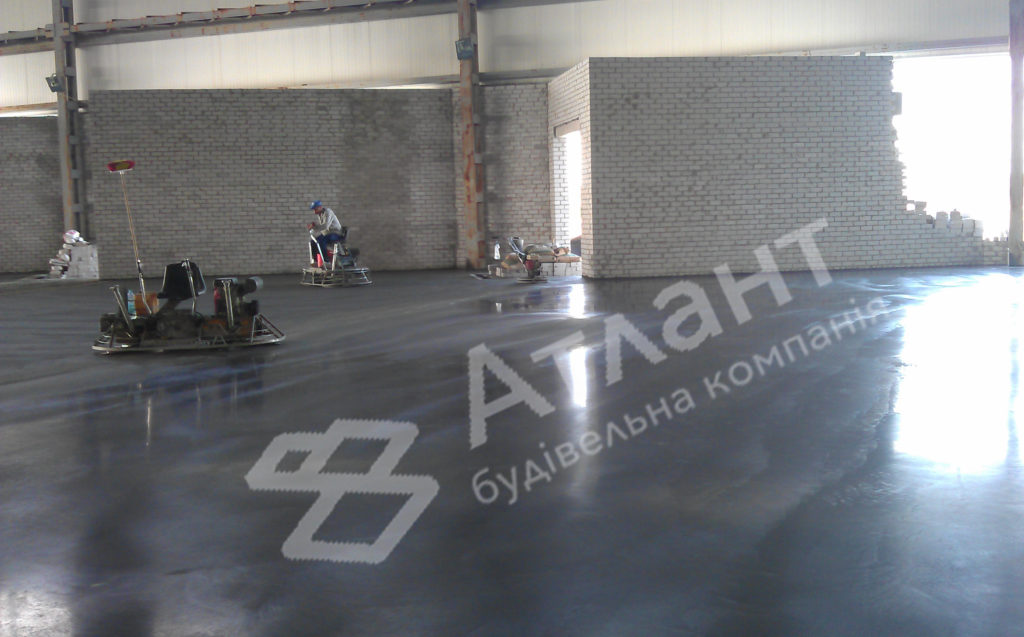 Промышленный бетонный пол